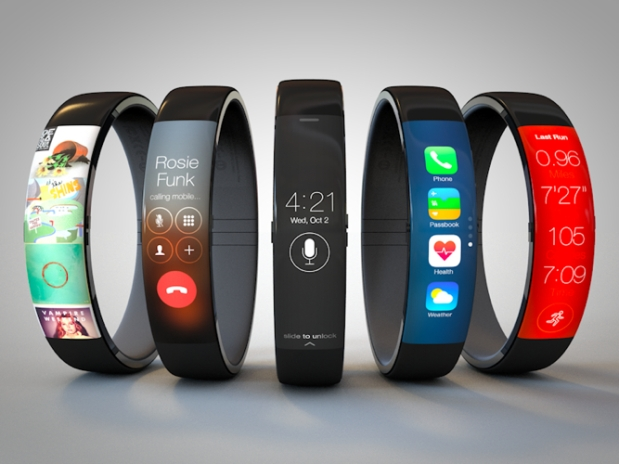 One of many concepts of the iWatch. This one designed by Todd Hamilton and based on the Nike Fuel Band.