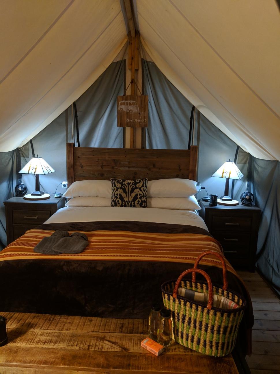 Inside Glamping Tent- Ventana Big Sur